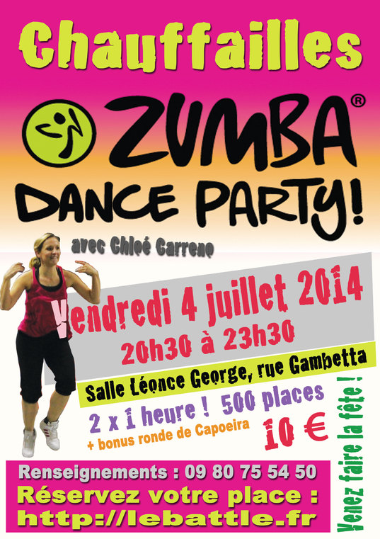 Billetterie zumba party chauffailles for Sideboard zumba
